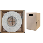 Cat 6 UTP Cable Roll 1000-ft box 24-AWG White